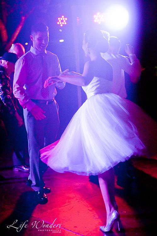 mexico wedding photographer bride groom dance