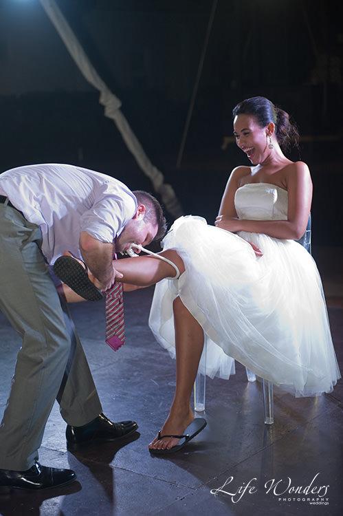 mexico wedding photographs wedding garter ceremony