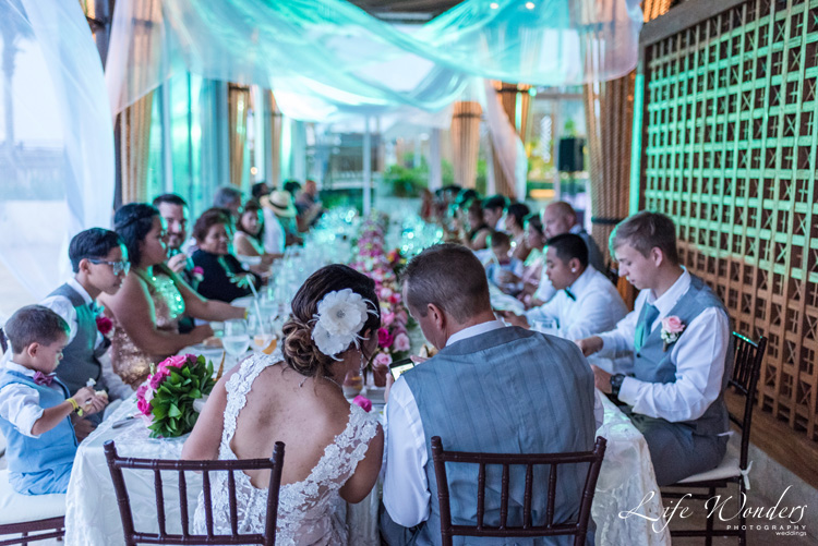 rain on wedding day reception riviera maya photographer