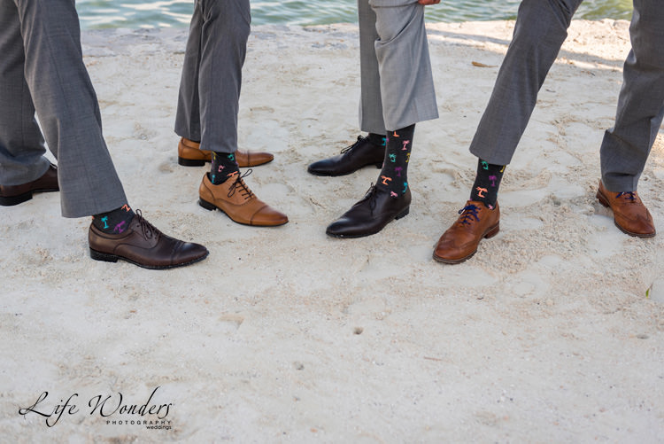 wedding photography groom groomsmen unique socks and shoes