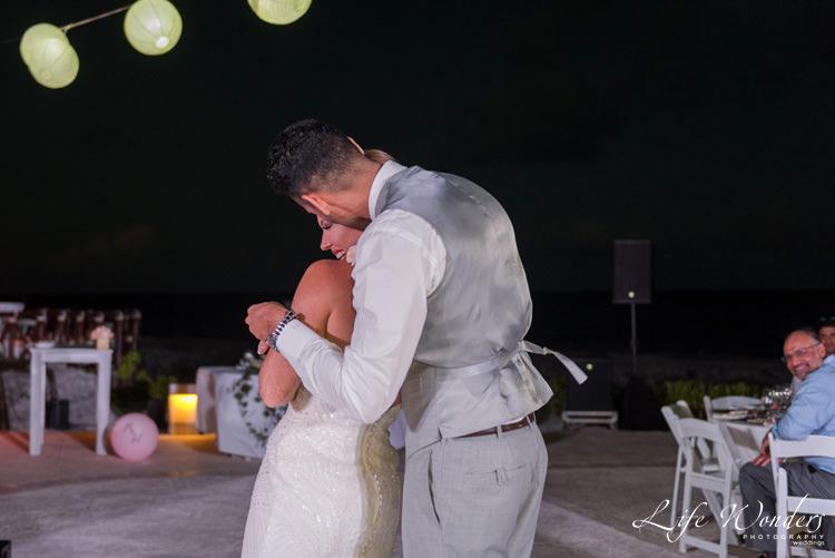 happy bride groom wedding dance
