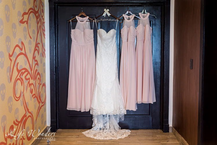 riviera maya photographer bride bridesmaids dresses