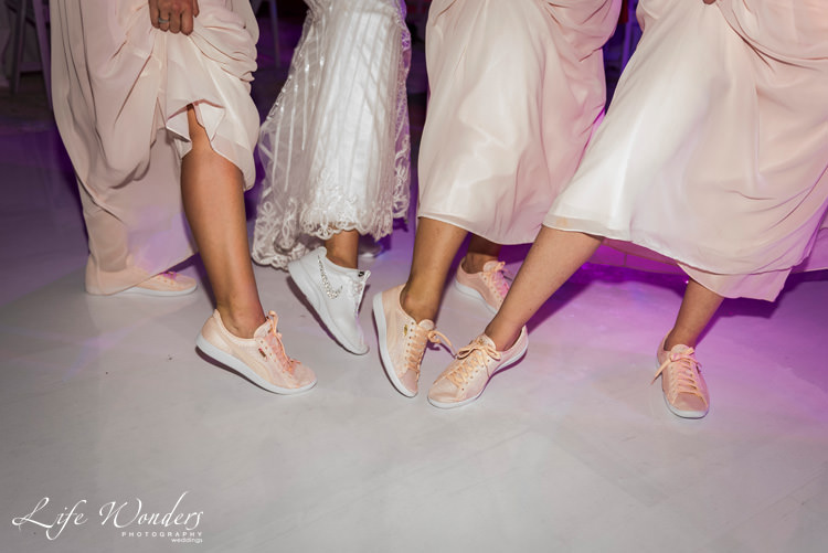 bride bridesmaids comfortable wedding sport shoes