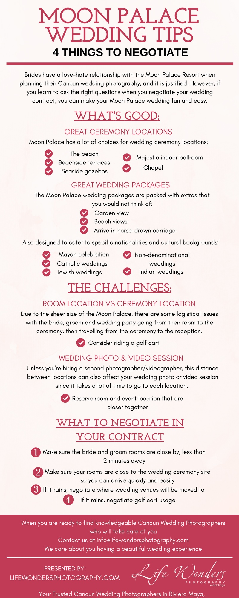 Infographic moon palace resort wedding tip - 4 things to negotiate